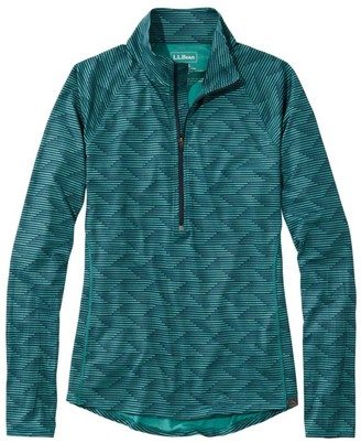 L.L. Bean Women's Multisport Tech Tee, Quarter-Zip Long-Sleeve Print