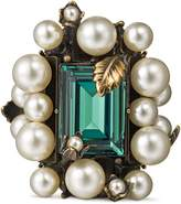 Gucci Ring with crystal and pearls