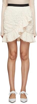 Self-Portrait Ruffle hem sequin skirt