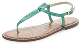 Sam Edelman Gigi Embossed Leather Thong Sandal