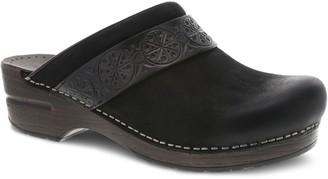 Dansko Leather Slip On Clogs - Saundra