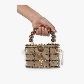 Rosantica brown Holli crystal bracelet bag