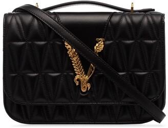 Versace Virtus quilted shoulder bag
