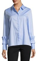 Marled by Reunited Ruffle-Cuff Button-Down Blouse