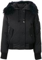 Kenzo Puffa short down jacket - women - Feather Down/Acrylic/Nylon/Racoon Fur - M