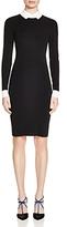 Paule Ka Color-Blocked Collar Dress