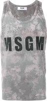 MSGM logo print tank