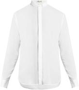 Saint Laurent Narrow-collar cotton shirt