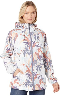 Columbia Side Hilltm Printed Windbreaker (New Moon Magnolia Floral) Women's Coat