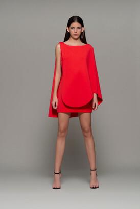 Isabel Sanchis Agazzano Cape Mini Dress