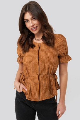 NA-KD Tied Detail Puff Sleeve Blouse