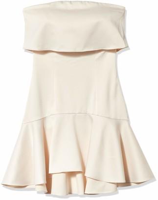 Elliatt Women's Apparel Women's Strapless Drop Waist Mini Dress
