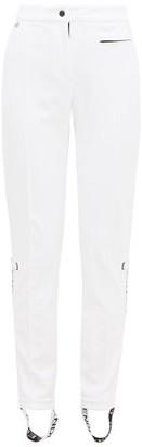 Fendi Roma Logo-stripe Stirrup Ski Trousers - Womens - White