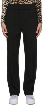 Ganni Black Heavy Crepe Trousers