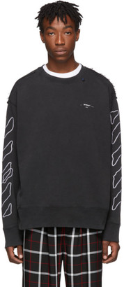 Off-White Off White Black and White Abstract Arrows Incompiuto Sweatshirt