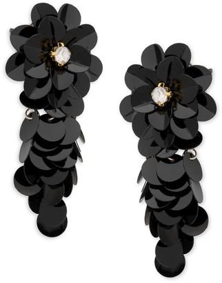 Ava & Aiden Flower Sequin Drop Earrings