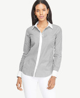 Ann Taylor Striped Perfect Shirt