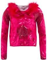 Miss Blumarine Pink Rose Print Cardigan