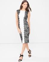 White House Black Market Sleeveless Sheath Dress with Lace Sides