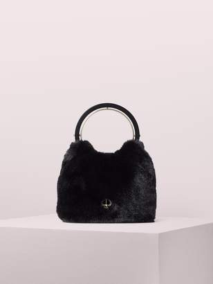 Kate Spade betty faux fur swag bag