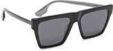 McQ by Alexander McQueen Alexander McQueen Oversized Flat Top Sunglasses