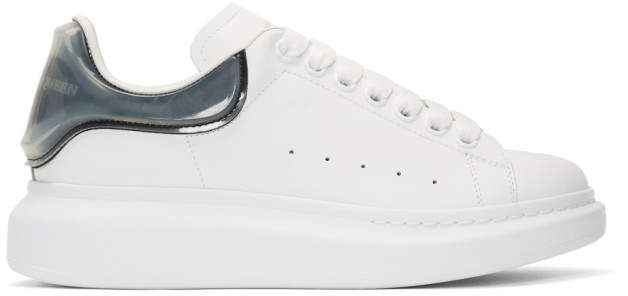 Alexander McQueen White and Black Transparent Oversized Sneakers