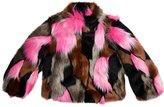 Imoga Girls Greta Fur Jacket - Flamingo