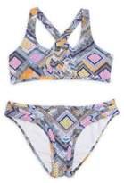 OndadeMar Toddler's, Little Girl's & Girl's Two-Piece Fressia Multicolored Bikini