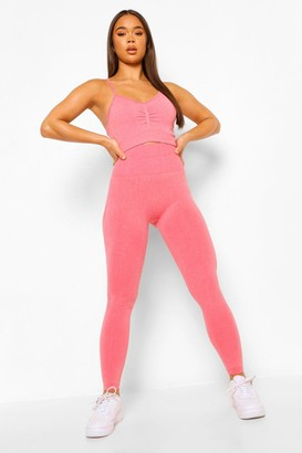 boohoo Seamfree Marl Gym Leggings