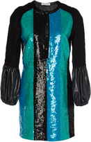 J.W.Anderson Sequin Mini Shift Dress With Puff Sleeve