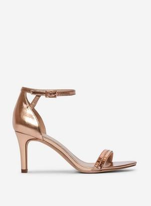 Dorothy Perkins Womens Wide Fit Rose Gold 'Sling' Sandals, Rose Gold