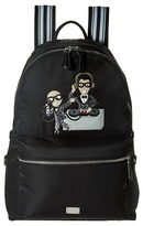Dolce & Gabbana Nylon Embroidered Backpack Backpack Bags