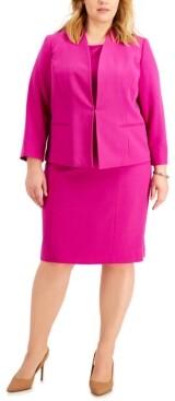 Le Suit Plus Size Kiss-Front Dress Suit