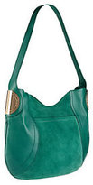 B. Makowsky B.Makowsky Giamma Leather & Suede Hobo Bag with Hinge Hardware