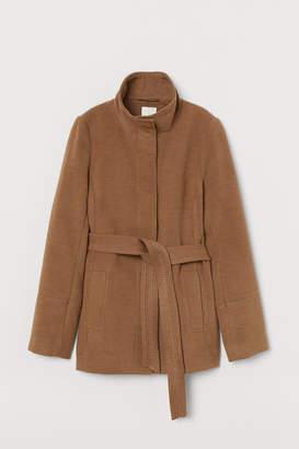 H&M Jacket with Tie Belt - Beige