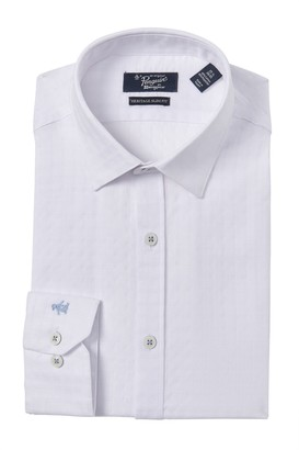 Original Penguin Slim Fit Checkered Texture Dress Shirt