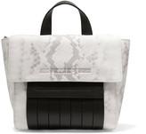 McQ by Alexander McQueen Paneled snake-print leather shoulder bag