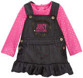 Juicy Couture Foil Dot Tee & Denim Jumper Set (Baby Girls)