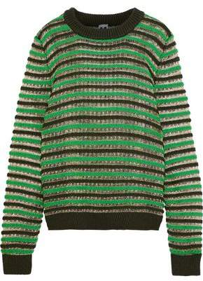 M Missoni Striped Metallic Wool-Blend Sweater