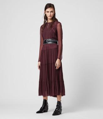 AllSaints Rochi Embellished Dress
