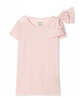 Douuod Pink Cotton T-shirt