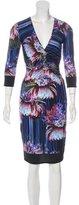 Roberto Cavalli Embellished Floral Print Dress