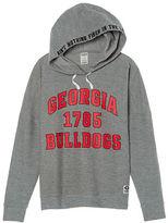 PINK University Of Georgia Crossover Pullover Hoodie