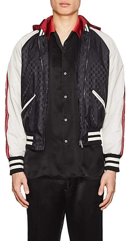 Gucci Men's GG Supreme Colorblocked Padded Bomber Jacket