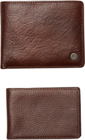 Rusty Deep River 3 Leather Wallet Brown