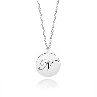 Myia Bonner Sterling Silver Initial N Edwardian Pendant