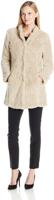 Kenneth Cole New York Kenneth Cole Women's Fuzzy Faux Fur Coat
