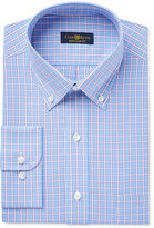 Club Room Estate Men's Classic-Fit Wrinkle-Resistant Blue Purple Check Dress Shirt, Only at Macy's