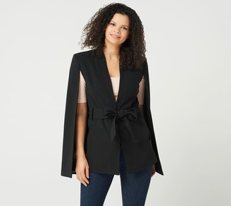 G.I.L.I. Got It Love It G.I.L.I. Crepe Cape Jacket with Tie Waist