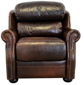 """Westland and Birch Beacon 40"""" W Top Grain Leather Club Chair Fabric: Brompton Brown Genuine Leather"""